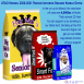 "Description: A large yellow dog food bag reading ""Big Mo's Senior Os, 185lb Super Size"" with an image of Mo, a slightly smaller red dog food bag reading ""Good Thinkin' Lincoln's Smart Food, 50lb. Racer Size"" with a picture of Lincoln, and a small blue dog food bag reading ""Astro's Amazing Adventure Bites, 10lb Growing Size"" with a picture of Astro looking out of a rocket ship, sit together in a snowy landscape with the ATAO Logo in one corner, with the text: ATAO Kennel 2020-2021 Rookie Iditarod Season Kibble Drive. In the run up to Iditarod, the race team will consume 4,000lbs of kibble. That's almost 22 Mos! You can support us by donating to our kibble fund. Donating at the $15 level and higher will get you our kibble bag stickers to show off your support!"