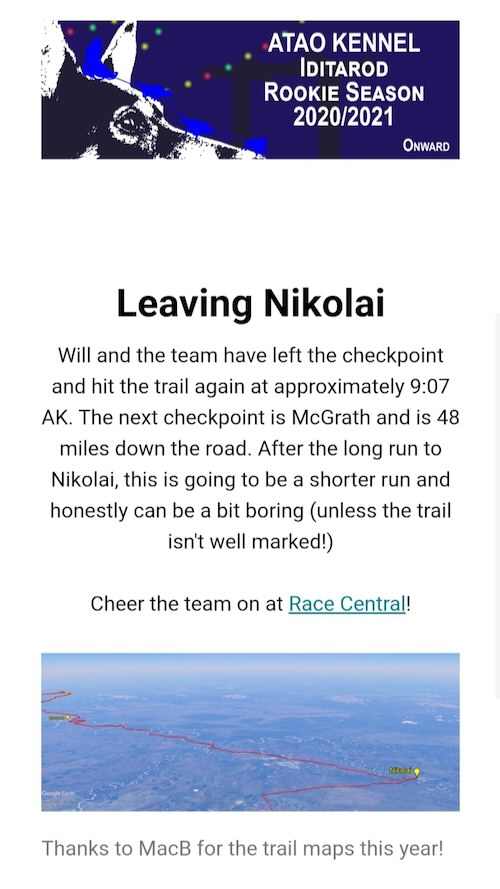 """A preview of an email that says """"Leaving Nikolai"""""""